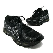 Asics Gel-Kayano 17 IGS Black Sneakers Running Shoes Women's 6.5 T150N