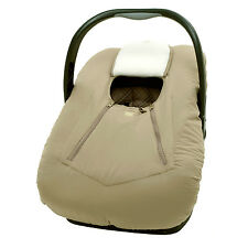Infant Car Seat Carrier Cover or Bunting Bag for Baby Taupe Microfiber