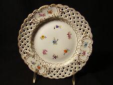 "Richard Klemm Dresden Porcelain Reticulated Dessert Plate 7"" dia c1888-1916"