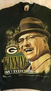 Vtg Green Bay Packers Super Bowl XXXI Vince Lombardi Sweatshirt sz M Pro-Player