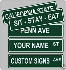 "Set of 4 Custom  Street / Road Name Sign!   6"" x 24"""