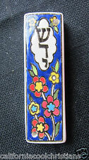 Hand Painted Armenian Floral Design Jewish Mezuzah-boxed,comes with copy scrool
