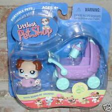 Littlest Pet Shop PUPPY Pram bottle #143 RETIRED 2005