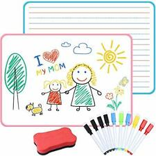 Dry Erase Small White Board For Kid With Lines Double Sided With 10 Pcs Dry E