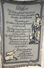 Woven Throw Blanket Tapestry Psalm 23 The Lord Is My Sheperd