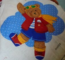 Ballerina and aviator bear sewing panel pieces for applique childrens novelty