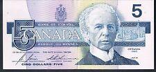 CANADA BANKNOTE 5 P95c 1986 GAU- SER GPA