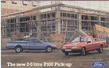 Ford P 100 2 Litre Pick Up Factory issued postcard FB 1483 Posted