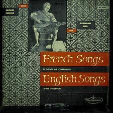 Hugues Cuenod - Hermann Leeb - French & English Songs LP VG WL 5085 Westminster