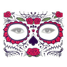 Halloween Day Of The Dead Face Sugar Skull Temporary Tattoo Costume Decor -THS