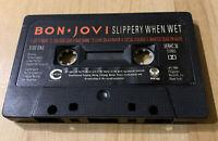 CASSETTE TAPE BON JOVI SLIPPERY WHEN WET ALBUM