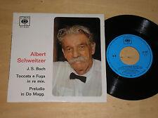 """JOHANN SEBASTIAN BACH (ALBERT SCHWEITZER) - TOCCATA E FUGA - 45 GIRI 7"""" ITALY"""