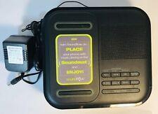 RCA RC250BK-A SoundFlow Wireless Audio Sound Dock FM Clock Radio w/ USB Charging
