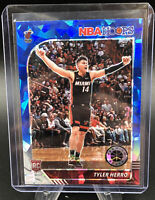 19-20 NBA Hoops Premium Stock Tyler Herro Blue Cracked Ice Prizm RC #210 Rookie