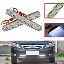 2x 6LED Car Daytime Running Light LED DRL Universal Warning Lamp Car Fog Bright