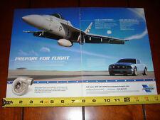 2005 VORTECH SUPERCHARGER MUSTANG FA-18 SUPER HORNET JET - ORIGINAL 2 PAGE AD