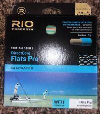 RIO DirectCore Flats Pro Fly Line WF7F Aqua / Orange / Sand Color- Used One Trip