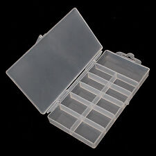 5 X RECTANGLE EMPTY Box BOXES CASE for False Tips DECORATION CRAFT NAIL ART