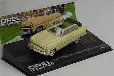 Opel Olympia Rekord Cabrio Limousine 1954  1956 beige 1:43 IXO Altaya Collection