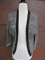 Lucky Brand W's Size M Open Front Cardigan Sweater Blk/White 7WD5231 $69.50 NWT