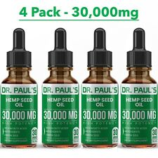 Hemp Oil Drops For Pain Relief, Stress , Anxiety, Sleep - 4 PACK 30,000 mg