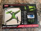 SYMA Sky Phantom WiFi FPV Drone Green #1232440 New HG477