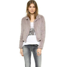 Women Real Knitted Rabbit Fur Jacket Coat 100 Genuine Short Casual Outerwear Light Grey L(bust 96cm)