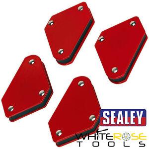 Sealey 4pc Magnetic Welding Clamp Set Red Soldering Quick Welder