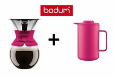 "Bodum Pour Over ""Pink"" Kaffeebereiter mit Permanentfilter + Thermokanne Bistro"
