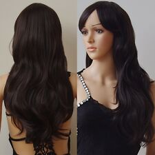 58cm long Wavy Synthetic Cosplay Wig Costume Party Full Wigs Black Yellow Brown