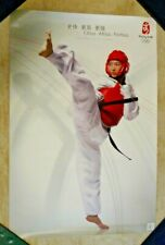 Official BEIJING 2008 OLYMPICS POSTER Taekwondo Citius Altius Fortius
