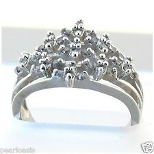 Cocktail Diamond Ring 0.50 ctw 10K White Gold Right Hand Ring, New