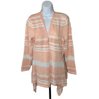 Womens Peyton Primrose Cardigan Size Large Turcany Coral Open Front NWT