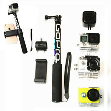 Gopro Stick Selfie Monopod Pole Extendable Tripod Camera Head Top Aluminum Phone