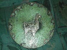 Peruvian Inca wall plate charger sterling over copper mid century modern 50s