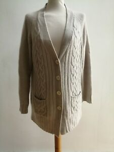 The Cotswold Collections Cashmere 100% Natural Cabled Cardigan XL 18