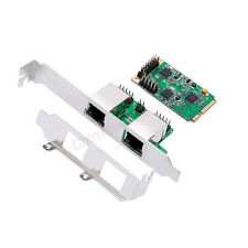 Mini PCIe PCI Express Slot 2-Port Dual 1000M Network Lan Card Adapter Win 7 8 10