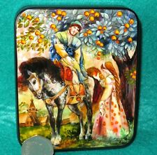 LACQUER Box Russian HAND PAINTED SHELL Fairy Tale A Little Havroshechka signed