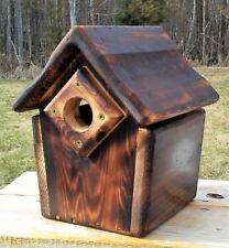 Cute decorative, handmade square Bluebird house, cedar wood, TBNUP