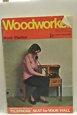 Woodworker Magazine. August, 1973. Volume 77, number 957. Telephone Seat  4 Hall
