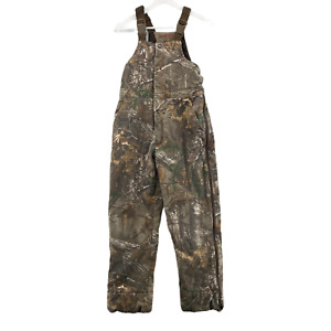 RedHead True Timber Camo Silent Hide Bib Overalls Size Youth XL Camouflage
