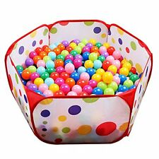 Theafun® Portable Cute Hexagon Polka Dot Kids pen Ball Pit Indoor and Outdoor