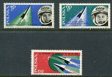 Poland Scott 1156-58 1158 First Women Cosmonauts Space Flight 1963 NH