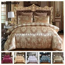 2020 New Top Luxury 2 or 3 Piece Suit Satin Belt 1 Quilt Cover + 1/2 Pillowcase