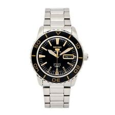 Seiko 5 Automatic Black Dial Stainless Steel Mens Watch SNZH57K1 RRP £329