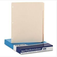 2 Boxes Oxford 3 Hole Punched Index For Binder 15 Cut 5 Tab Manila Oxf13v