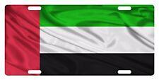UNITED ARAB EMIRATES Flag Custom License Plate NATIONAL Emblem WAVE Version