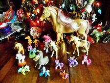 15 Used Mix Lot Of My Little Pony & Other Horses & A Donkey Toys