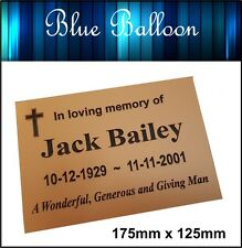 Weatherproof Large Memorial Plaque-175mmx125mm - Engraved Personlised