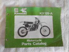 Kawasaki KX125-A Motorcycle Motor Bike Parts Book Catalog Catalogue Microfiche